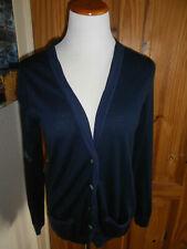 Boden Azul Marino 100% lana chaqueta talla 14