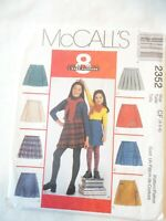 Vintage 1999 Sewing Pattern Children's Girls Skorts Size 4-5-6 Uncut