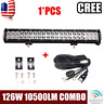 126W 20inch CREE Flood Spot Combo Beam Led Work Light Bar With Wiring Harness
