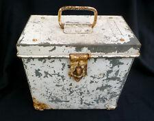 ~ I.C.C. Galvanized Steel Box ~ vintage & funky & heavy-duty