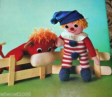 Tiere und Puppen aus Wolle  Brunnen Reihe  117 von 1976 Häkeln Stricken Pompon