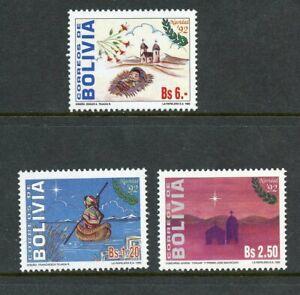 BOLIVIA SCOTT# 865A-C CEFILCO# 1236-8 CHRISTMAS ART MNH AS SHOWN