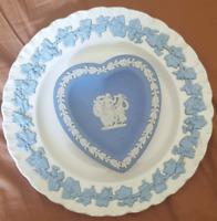 Wedgwood of Etruria Barlaston ivory plate and Jasperware 3 Graces dish