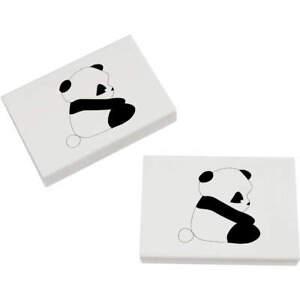 2 x 45mm 'Panda' Erasers / Rubbers (ER00006088)