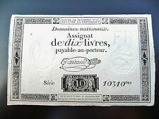 assignat de 10 LIVRES 1792  série 10310  variété ass-36b-v1
