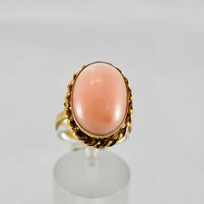 Koralle Goldring Gelbgold 750 Ring Größe 56 Edelkoralle Coral Engelhautkoralle