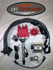 JEEP V8 290-401 Small Cap HEI DISTRIBUTOR RED + 60K COIL + PLUG WIRES - USA