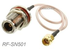 1ft RP-SMA Male to N-Type Bulkhead Female 50-Ohm RG316 Coax Low Loss RF Cable