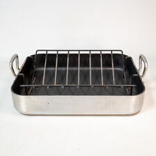 Williams Sonoma Non-Stick Roasting Pan w/ Handles France Commercial Quality