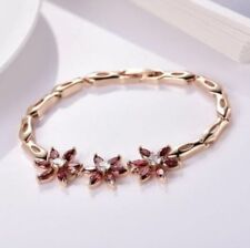 Garnet Simulated Chain Fashion Bracelets