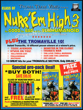 CLASS OF NUKE 'EM HIGH 3__Original 1995 Trade print AD promo__TROMA__Subhumanoid