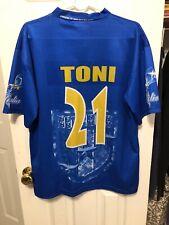 Luca Toni Italia Italian National Team Football Kit Soccer Jersey Size Large