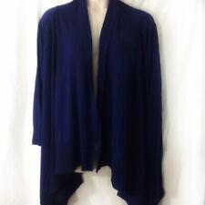 d5b0d6ae0ad27 Liz Lange Dark Blue Solid Open Front Draped Long Sleeve Cardigan Size XL