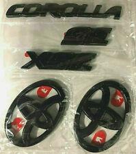Oem 2020 Toyota Corolla Se / Xse Black Out Emblem Overlay Kit (00016-12181)