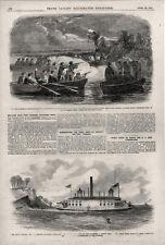 Skirmish near Ft. Jackson, Ga. & Dismounting Guns at Cockpit Battery, Va. - 1862