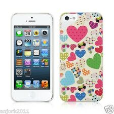 Apple iPhone 5 Hard Back Cover Snap-Fit Case Accessory Candy Hearts