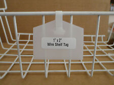 "1"" x 2"" One-Piece Wire Shelf Tag - Clear - (pkg of 25) FREE 1st Class Shipping"