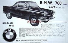Vintage 1965 BMW '700 Coupe' Car Advert #2 - Auto Photo Print Ad
