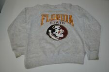 FLORIDA STATE SEMINOLES FSU VINTAGE SOFFE GRAY SWEATER MENS SIZE LARGE L