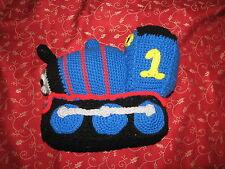 "Handmade Crochet Plush Stuffed Thomas the Tank Engine and Friends Train Blue 11"""