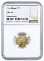 2018 1/10 oz Gold American Eagle $5 NGC MS70 SKU50798