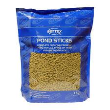Pettex Natural Pond Sticks 1kg Premium Floating Food for All Pond Fish & Koi