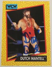 Dutch Mantell Signed 1991 WCW Impel Card #77 WWE Pro Wrestling Legend Autograph