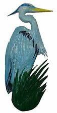 Chainsaw Carving Great Blue Heron Snowy Egret Carved Home Decor Wall Art Gift