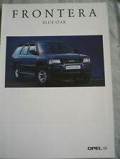 Opel Frontera Blue Star brochure Nov 1993 German text
