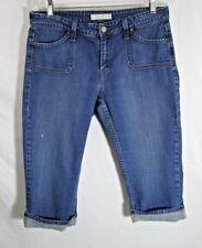 Levis 545 Womens Jean Shorts size 12 Medium Wash w Pockets and Cuff
