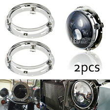 Pair Mounting Bracket for 7inch LED Headlight Round Ring Fit Harley-Davidson
