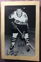 **SIGNED BILL HAY** 1944-63 Beehive 🐝 Group II Photo #103 Chicago Blackhawks