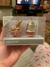 NEW Disney Bambi & Thumper Christmas Decorations 2 Decorations Tree Ornaments #1