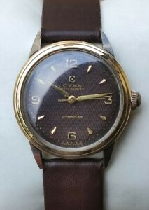 Vintage Cyma Flex Caliber R 495 Hand Winding Mid Sized Two Toned Men's Watch