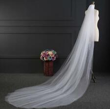 Womens Bride Bridal Cathedral Wedding Long Head Hair Veil with Comb