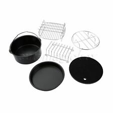 Air Fryer Accessories Set Kit Cooking & Baking Tray Pan Chips Dish With Rack