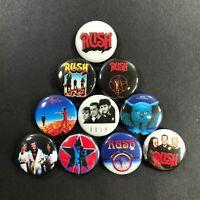 "Rush 1"" Button Pin Set Progressive Rock Legends Hard Classic"