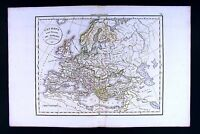 1832 Antique Map by Delamarche - Europe prior to Barbarian Invasion