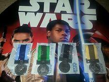 Toys R Us Star Wars Epic Battle Medal Rare Promo 4 of 4! Complete Set of 4