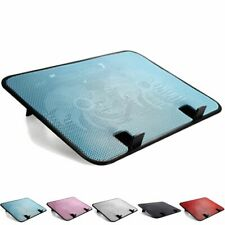 Laptop Cooling Stand Pad Mat 2 Quiet Fans Ventilador For 14 Inches & Below New!