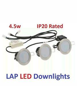DownlightsSpotlights lighting kit 3 Pack Fixed Led ip20  £11.99