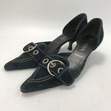 Prada Heeled Shoes UK 4 EU 37 Black Pointed Toe Going Out Wear 291578