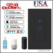 Home Smart WiFi Light Switch in Wall -Compatible With Amazon Alexa&Google Black