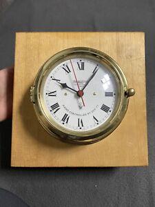 Wempe Schiffsuhr Chronometerwerke Hamburg Radio Controlled By DCF 77