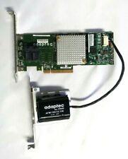 Adaptec RAID 7805Q maxCache 3.0 SAS/SATA 6Gbs Controller Card Storage + Battery