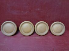 4 NOS MORE AVAIL VINTAGE MID CENTURY WOOD CABINET DRAWER CHEST DRESSER KNOBS #2