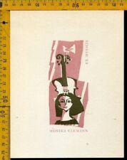 Ex Libris Hans Studer Basel Svizzera b 1368 Monika Clemann