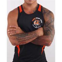 Tank Top Black Fitness Training Muay Thai Tiger Boxing MMA Sleeveless Sweatshirt