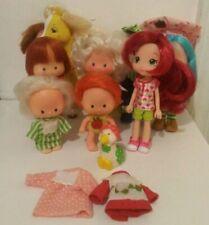 Vintage Strawberry Shortcake Lot of 7 1979 Dolls Hong Kong, 1 Pet, 1 Horse & 2 S