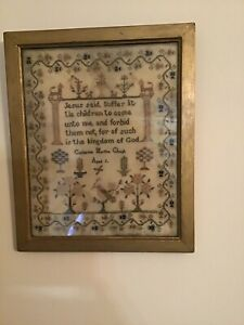 Antique Sampler with verse